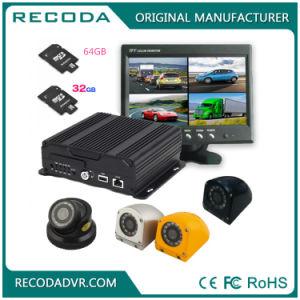 Ahd vier in einem 4 Kameras verdoppeln Ableiter-Karte bewegliches DVR mit 3G 4G GPS WiFi 1080P