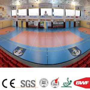 Het binnen Broodje van de Vloer van de Sporten van het Meer Blauwe Vinyl voor Patroon 4.5mm van de Gem van het Hof van het Volleyball
