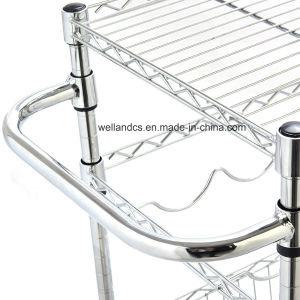 [مولتي-فونكأيشنل] قابل للتعديل كروم معدن مطبخ حامل متحرّك مع مقبض (1309320)