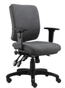低い背部ナイロン基礎ファブリックコンピュータのオフィスの椅子