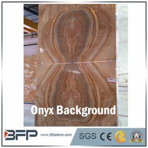 Alta qualità Brown e lastra rossa del Onyx per la parete della priorità bassa