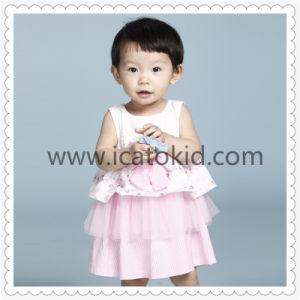 As crianças do vestuário sem mangas adorável Bonitinha Fashion Kids Roupas Tulle vestido para Menina