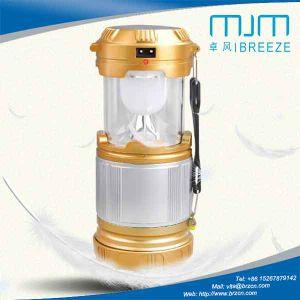 膨脹可能な太陽再充電可能なランタンの懐中電燈
