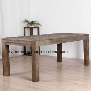 Zurückgeforderter hölzerne Möbel-Weinlese-Antike-rustikaler Bankett-Tisch