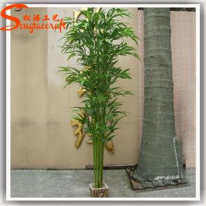 Decoração de plástico artificial envasadas de árvore de bambu sobre venda