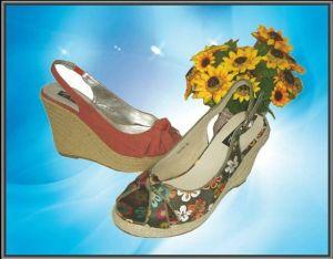 Dame de la mode des chaussures à talon haut de filtre en coin