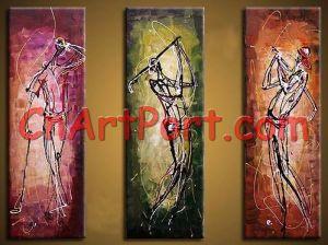 Het Abstracte Schilderen van de groep - het Schilderen van de Triptiek (APOR0035)