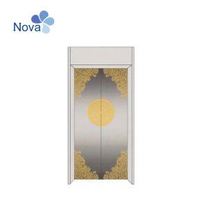 Нова стандартной системы двери золотой элеватора гравирования S/S панели