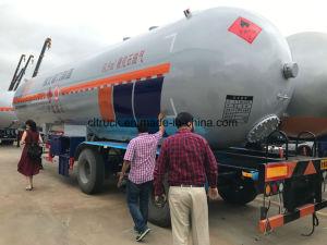 2 Gas-Transport-Becken-LKW-Schlussteil der Wellen-3 der Wellen-60000L 30tons LPG