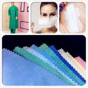 PP Spunbond Medical Nonwoven Fabric toalla sanitaria de tela pañales de tela