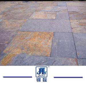 Couleur jaune rustique de la culture de l'Ardoise carreaux en pierre/panneaux pour patio extérieur Flooring Revêtements / Walling