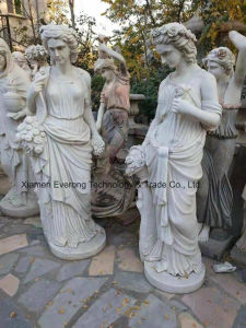 De marmeren Standbeelden die van de Steen voor de Decoratie van de Tuin snijden