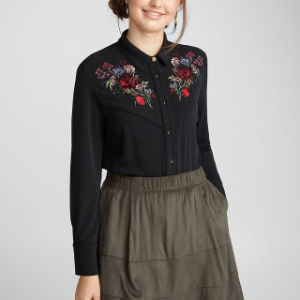 Moda Womans Western Ranch blusa em Bom Preço
