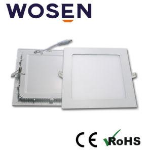 Panel LED 24W luz con homologación UL para sala de interiores