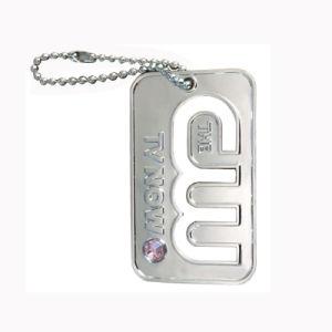 Kundenspezifische Dekoration-Geschenk-Metallfertigkeit-nette rosafarbene Waage-Hundeplakette (020)