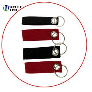 Chaveiro sentida curto Corda/tirantes com logotipo de impressão personalizado