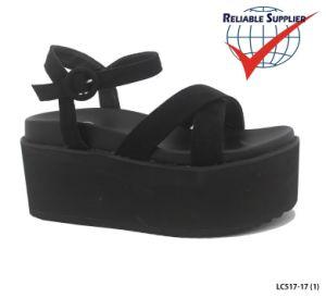 여자의 형식 안락 신발 편평한 PU 샌들 쐐기(wedge) 발뒤꿈치 단화