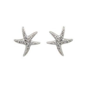 方法星のイヤリング925の純銀製の宝石類CZのイヤリング(E0987)