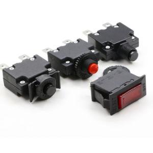 Electric Red Black 5A 15A DC 50V Ce UL Illuminated Overload Circuit Breaker Rocker Switch