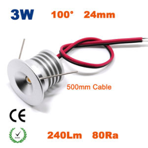 3W com regulação de intensidade da luz das lâmpadas LED de marcação RoHS Iluminação Pontual