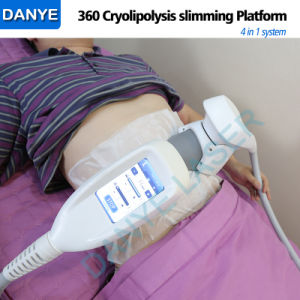Cavitazione rf 4 di vuoto di 2017 nuova 360 Cryolipolysis in 1 corpo di congelamento grasso di Coolscuplting che dimagrisce macchina