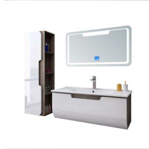 48 en el cuarto de baño curva tocadores con espejo iluminado cuarto de baño de PVC