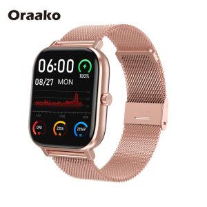 Telefone da pressão arterial e freqüência cardíaca Bracelete Inteligente Bt Música banda suportado IP68 de vigilância inteligente on-line
