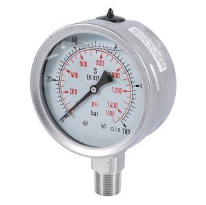 Todos eléctrodo indicador de pressão de aço inoxidável com bujão de enchimento