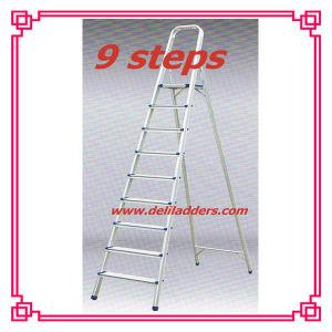 アルミニウム9ステップ梯子/拡張金属の梯子