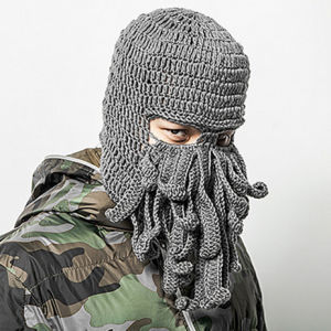 Unique Octopus Mask Handmade Knitting Knitted Winter Hat – Unique ... 305c5478653