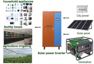 Maison en utilisant une grande efficacité 3kw autonome du système solaire