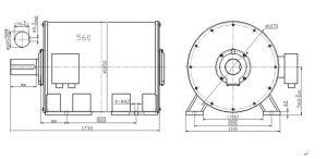 500kw 100rpm de Horizontale Permanente Generator Met lage snelheid van de Magneet