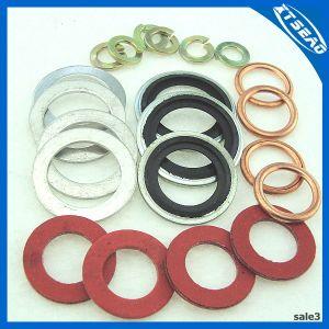 Guarnizione di gomma di nylon di alluminio di rame della rondella dell'acciaio inossidabile