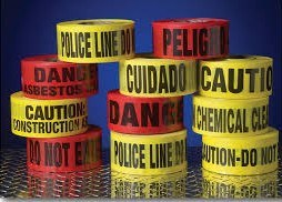 SGS 50mm X 0.5mm X 200m Warning Tiles/Tapes