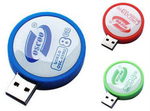 Рекламные раунда памяти USB Flash с полной емкости