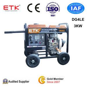 Touche de démarrage à 3kw Groupe électrogène diesel électrique