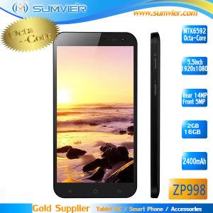 A MTK6592 Zopo ZP998 Octa Core Phone 5.5 IPS 1920x1080 2GB de RAM 16g ROM Telemóvel Inteligente Android Zopo ZP998 Preto Branco Nfc GPS