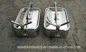 230X330mm Sanitaire Rechthoekige Manway met het Silicone van de Vleugelmoer SS304
