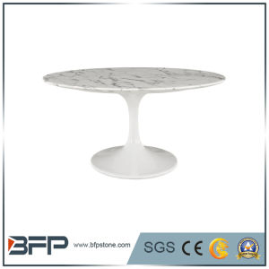 Популярные европейские стиле белыми мраморными кофейными столиками для Dinnig зал
