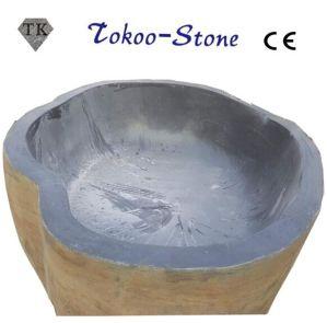 Gran bañera de piedra de Jade negro