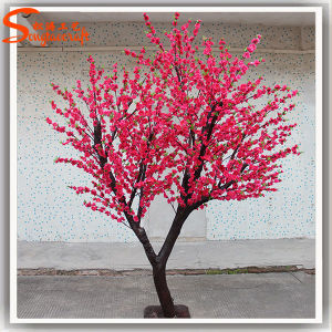 Produto de plástico de alta qualidade Flores de seda planta artificial Blossom Tree