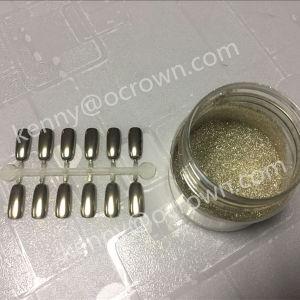 魔法の銀製ミラーの粉の微光のクロム顔料の紫外線ゲルのポーランド語