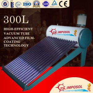300L de niet-onder druk gezette VacuümVerwarmer van het Hete Water van de Zonne-energie van de Buis