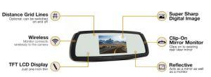 4.3 polegadas Monitor veicular sem fio 2.4G com conjunto de marcha da Câmara de backup sem fio para carro ou táxi,