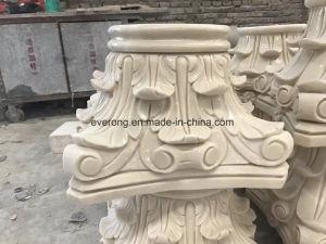 De hand Gesneden Antieke Marmeren Roman Basis van de Kolom. De Basis van de Pijler van het Voetstuk van de steen