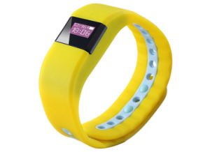 黄色3 ATMの抵抗力があるスマートなスポーツの適性のブレスレットの情報処理機能をもったスポーツのブレスレット