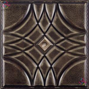 La sculpture en cuir 3D décoratifs tuiles mur autocollant board 400*400mm