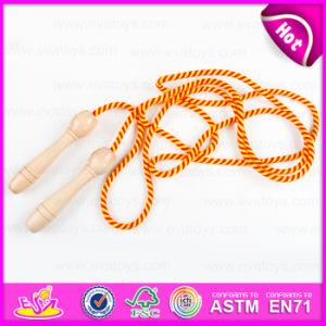 多彩で安い子供の木のジャンプの省略ロープ、昇進のギフトの木の省略ロープの適性W01A137