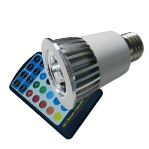 5W RGB LED Spot Lamp mit MR16 GU10 E27
