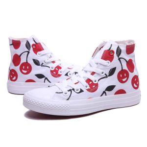 Los hombres y mujeres High-Top Hitops casuales Zapatos de lona Lace-up zapatilla